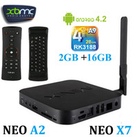 Wholesale MINIX NEO X7 Android TV Box RK3188 Quad Core XBMC Media Player Android GB RAM DDR3 GB NAND Flash Mini PC GHz HDMI P OTG A2