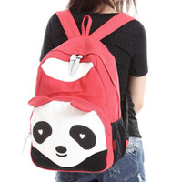 Wholesale Colors NEW Lady Panda Backpack Style School Bags Canvas Bookbag School Backpacks BK210