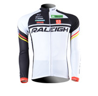Tops Men Polyester Cycling Jersey 2013 RALEIGH Cycling Long sleeve bike jersey men's bicycle wear Fleece Thermal Available maillot Tour de France