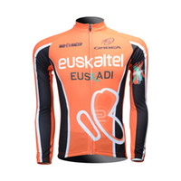 Tops Men Polyester Cycling Jersey 2013 EUSKALTEL EUSKADI Cycling Long sleeve bike jersey men's bicycle wear Fleece Thermal Available maillot Tour de France