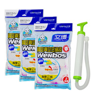 Wholesale Vacuum compressed bags set thickening compression bag storage bag wire big small hand pump