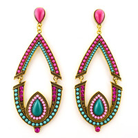 Wholesale ER Hot Sell Vintage Drop Earrings Jewelry full of crystal and ivory bead chandelier pendant for ladies