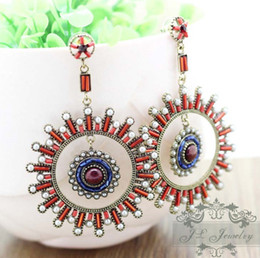 Wholesale ER sun like Vintage Antique Retro Drop Earrings New Arrival Mixed Order name brand earrings