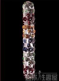 Wholesale Female masturbation orgasm G spot is double crystal phallus blown large backyard bead ice bar