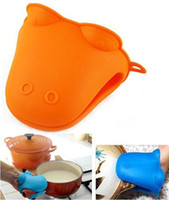 Silicone Rubber kitchen oven gloves - Silicone Heat Proof Resistant Insulation Pan Holder Kitchen Glove Oven Grab Mitt