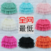 Wholesale 2015 Hot sale baby girl fluffy pettiskirts girl s tutu skirts candy colors pink bule red yellow