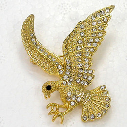 Wholesale Fashion Brooches Crystal Rhinestone Eagle Pin Brooch jewelry gift C367