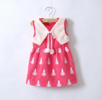 Wholesale Wholesales autumn new Baby Kids Clothing Children s girls skirts fashion dance party tutu warm dress SS