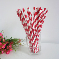 Paper bamboo drinking straws - mixed colors amp Packing paper party straws Striped chevron Polka Dot star heart bamboo Drinking Straw