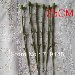 200pcs 25cm artificial fake rose flower stems DIY handmade flower home decoration