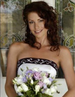 Wholesale Strapless Lace up White Purple Custom made Bridal Gowns A Line Formal Wedding Dresses Gowns