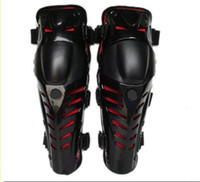 Wholesale Red riding kneecap Mechanical knee motorcycle protective gear racing knee kneelet canions Kneepad with PE shell and EVA cushion