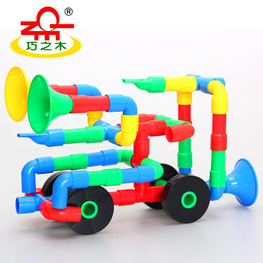 2017 The Wood Plastic Plumbing Pipes Clever Matching Toy