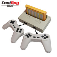 Wholesale Cool Boy hot sale Rs double tv card games fc nes handle reminisced toys Video Game Consoles Handheld Players
