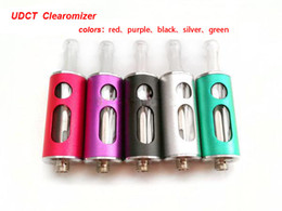 Wholesale 2013 hot new products no leaking low price udct cartomizer dual coils tank Clearomizer for E Cigarette KTS V MAX lava tube battery Ecigar