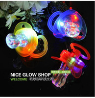 Wholesale 100PCS LED pacifiers whistles whistle flashlight flasher flashing stick led stick flash wand light stick