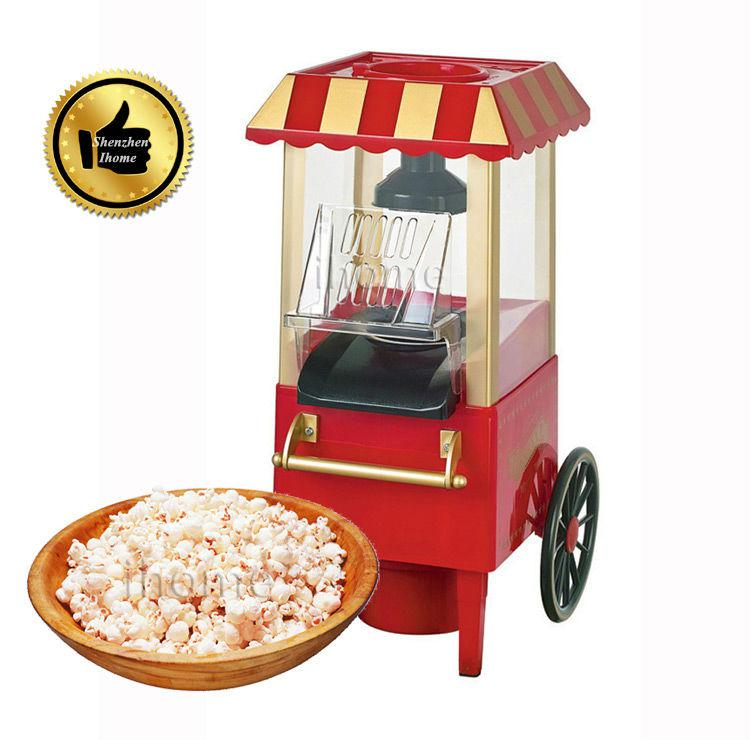 hot selling domestic nostalgia electric mini carriage shape hot air popcorn maker popcorn machine with eu plug red popper popcorn maker popcorn popcorn - Popcorn Makers