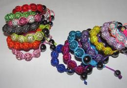 Wholesale 2016 Fashion Kids Baby Children Shamballa Bracelet mm Crystal Disco Ball Bead Colorful Braid friendship bracelets