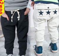 Wholesale New Fashion Children boys long pants casual trousers with stars pants clothes for autumn