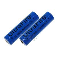 Wholesale Useful mAh Ultrafire Rechargeable lithium Li ion Battery with PCB for E Cigarette LED Camera Laser Flashlight Via DHL