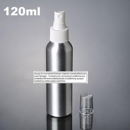 Wholesale 100pcs ml Aluminium bottle pump sprayer bottle white pump spray head Aluminum metal bottle spray bottle