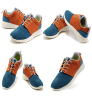 Wholesale 1 Shoes Epacket Men s Suede Casual Shoes Black Red Orange Blue casual shoes for men for women