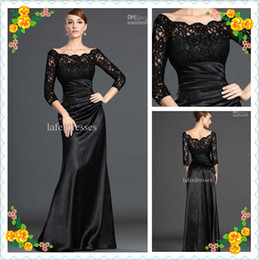 Wholesale In Store Hot Sale Lace Pleat Black Long Sleeve Mermaid Prom Dresses Evening Dress DH6132