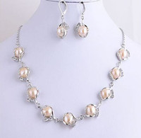 Celtic best buy earrings - Best Buy pearl jewelry natural genuine Charm Pink Natural Pearls Zircon Necklace Earrings quot