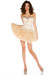 Wholesale New mini designer New sexy mini sweetheart ball Party Dress homecoming Prom dresses baby doll ysth