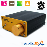 Wholesale 100W Aluminum Digital Audio Speaker Stereo Power Amplifier Line Signal Output PC Sound