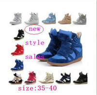 Buckle Strap high quality sneakers - Retail High quality women Leather Boots Height Increasing Sneakers Shoes FSports shoes ree Shipping