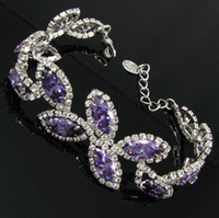 Bohemian bb jewelry - leaf purple bracelet wedding Jewelry BB Beauty Paradise Rihood Trading Neoglory silver plated
