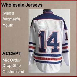 Wholesale Brand new cheap Jerseys Jordan Eberle V Neck White Color Men s Hockey Jerseys size Accept Mix Order