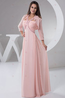 3/4 Long Sleeve A-Line Floor-Length 3 4Long Sleeve Chiffon Jacket Floor-Length Autumn Spring Collection Mother Dresses Evening Sexy Dress Cocktail Formal Homecoming Dresses