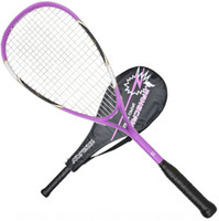 190 Gram & Above squash racket - FCSQ Squash racket racket case and ball as gift Purple can stringed up to lbs Aluminum composite material Brand high quality