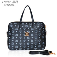 Wholesale High Quality Hot Sale Designer Briefcase MCM bags PU Computer Bag Korea Style Business bag amp Leisure handbags color black