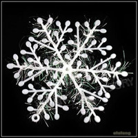 Wholesale Christmas Gift x11cm White Snowflake Christmas Ornament Decoration