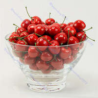 artificial tree stands - Fake Faux Cherry Artificial Fruit Model House Kitchen Party Decorative Chiristmas gift