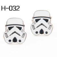 Wholesale Men s accessories Fashion Cufflinks High Quality Cufflinks For Men Cuff Links Wholesales Star War Sharp Storm