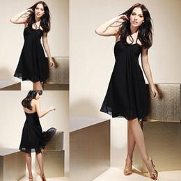 Cheap Sale Black Sweetheart Knee Length Chiffon Cocktail Dress Simple Homecoming Dress Party Dress