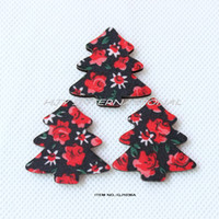 Christmas Decoration Supplies christmas fabric - fashion fabric covered merry Xmas Christmas tree wooden accessories GJ1036A