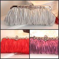 Wholesale Fashion Ivory PU Leather Ladies Evening Bag Women Handbag Purse