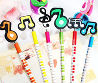 Wholesale Novelty Stationery Wooden Craft Cartoon Animal Pencil Music Signal Korea Creative Gift different styles