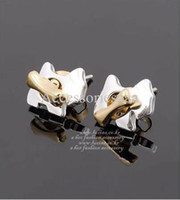 Women's Drop Earrings Earrings Min.order is $10 (mix order)Free Shipping&Fashion Chic And Lovely Separable Small Dog & Bone Stud Earrings(Color As Shown) E323