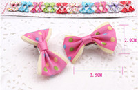 Wholesale 1 quot Mini Hair Satin Bow Hair Clips Girl s Hairpin Ribbon