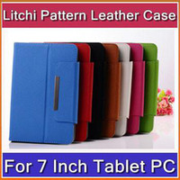 other 7'' other DHL 50pcs 7 inch PU Leather Case Colorful Universal Adjustable Flip Stand Cover for Android Tablet PC PTA-T