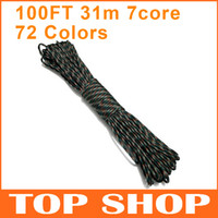 Wholesale Paracord Core mm FT Climbing Ropes Polypropylene Polyester colors Para cord
