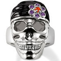 Celtic Men's Gift Cheap Wholesale NEW Pirates of the Caribbean skull ring Outlet Sale Free Shipping