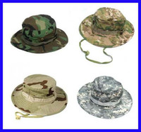 multicolour military hats - New Fishing Hunting Army Marine Bucket Jungle Military Boonie Hat Cap Camo