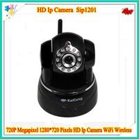 Wholesale DHL free P Megapixel Pixels HD Ip Camera WiFi Wireless TF Card Storage P2P Mobile Viewing H KaiCong Sip1201
